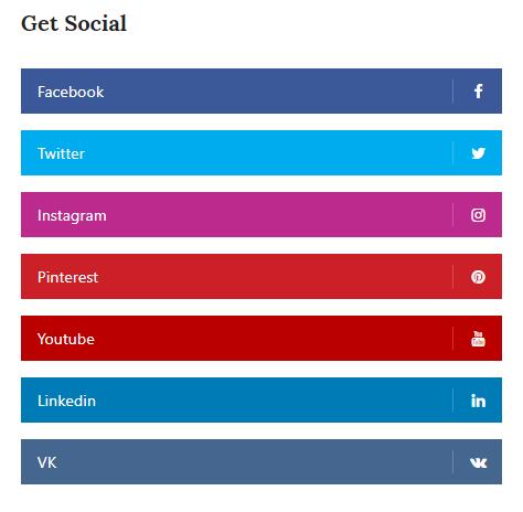 Masonry blog social widget